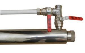 debatterizzatore UV per acqua con bypass